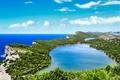 Picture lake, Croatia, Savar, coast, sea, rocks, the sky, horizon, clouds