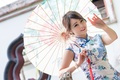 Picture summer, girl, face, style, umbrella, hair, dress