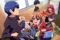 Picture letter, girls, anime, art, guys, school, Toradora!