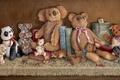Picture shelf, books, collection, art, Janet Kruskamp, toys, bear
