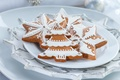 Picture stars, food, New Year, cookies, Christmas, figures, cakes, sweet, Christmas trees, glaze, Christmas