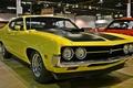Picture gran torino, muscle car, yellow, ford, 1970, wheel, classic, fairlane, line