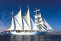 Picture sea, the wind, the way, ship, sailboat