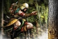 Picture brasil, assassins creed, concept, the creed of the assassins, jump, tree, assassin, concept art
