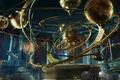 Picture vases, planet, candles, fantasy, planetarium, steampunk