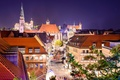 Picture street, home, Germany, lights, night, lights, branches, Nuremberg