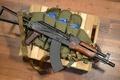 Picture Kalashnikov, box, The AKS-74, machine