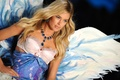 Picture model, Doutzen Kroes, blonde, bra, necklace