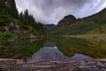 Picture clouds, Colorado, hung, reflection, state, lake, mountains, over, the sky, rocks, forest, USA