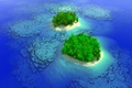 Picture nature, water, blue ocean, tropical paradise island, oceans deep, green islands