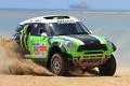 Picture Sand, Auto, Green, The hood, Mini Cooper, Rally, Dakar, MINI, The front, Mini Cooper, X-raid, ...