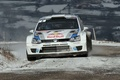Picture WRC, Polo, Volkswagen, Red Bull, Snow, The front, Rally