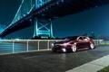 Picture Honda, bridge, TSX, Accord, Honda, the city, night, black, Acura, Acura