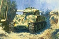 Picture WW2., the Pacific, howitzer, 105 mm, average, tank, Sherman, USA