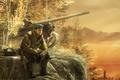 Picture forest, rendering, dog, soldiers, tank, special forces, Kalashnikov, Kalash
