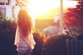 Picture hands, light, girl, summer, the sun, the city, hair