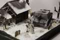 Picture toy, layout, house, Assault gun, soldiers, StuIG 33B, model