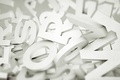 Picture letters, background, white