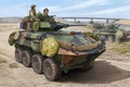 Picture war, art, painting, armored vehicule, LAV-25