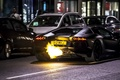 Picture Aventador, fire, Lamborghini, LP 700-4, black