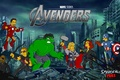 Picture The Simpsons, Ironman, Spingfield, Avengers, Hulk, The Avengers, Captain America, Simpsons, superheroes, Thor