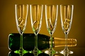 Picture Happy, 2015, bottle, New Year, champagne, New Year, glasses, gold, champagne
