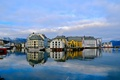 Picture sea, home, the sky, Alesund, Norway