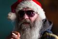 Picture glasses, portrait, Santa, cap, beard