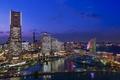 Picture Japan, Yokohama, megapolis, home, metropolis., Japan, cities, houses