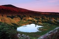 Picture trees, lake, hills, mountain, the evening, UK, Wales