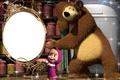 Picture Masha, bear, mirror, cartoon