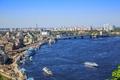 Picture Ukraine, home, bridge, river, Kiev