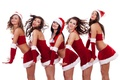Picture girls, holiday, costumes, smile, new year