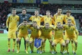Picture the national team of Ukraine, football, football