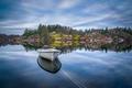 Picture lake, reflection, boat, Norway, Norway, Rogaland, Rogaland, Egersund, Eigersund