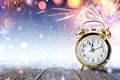 Picture holiday, snow, watch, fireworks, alarm clock, salute, flash, New year, glare, midnight