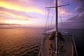 Picture sea, the way, the evening, yacht