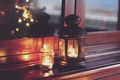 Picture lights, home, Christmas, lantern, candles