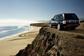 Picture sand, sea, beach, the sky, grass, water, machine, the ocean, rocks, shore, height, cars, jeep, ...