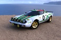 Picture green, Stratos, Lancia, white