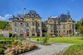 Picture castle, lawn, track, Germany, beds, Lieser