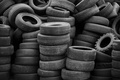 Picture tires, worn, rubber