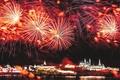 Picture river, holiday, salute, Kazan, Tatarstan