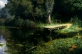 Picture Polenov, picture, Overgrown pond