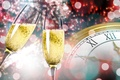Picture watch, salute, glasses, New year, champagne, New Year, clock, champagne