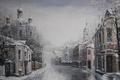 Picture Alexander Starodubov, home, Merry Christmas! painting, Church, winter