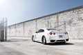 Picture white, the sky, the sun, wall, mesh, tuning, the fence, puddle, GTR, Nissan, Nissan, tuning, ...