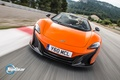 Picture McLaren, Top Gear, Orange, Speed, Front, Spider, Track, 650S