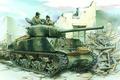 Picture figure, tank, tankers, Sherman, sherman, the second world war