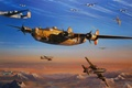 Picture UNITED STATES AIR FORCE, Me.262, Liberator, B-24, Swallow, Messerschmitt, Consolidated, art, American heavy bomber, figure, ...